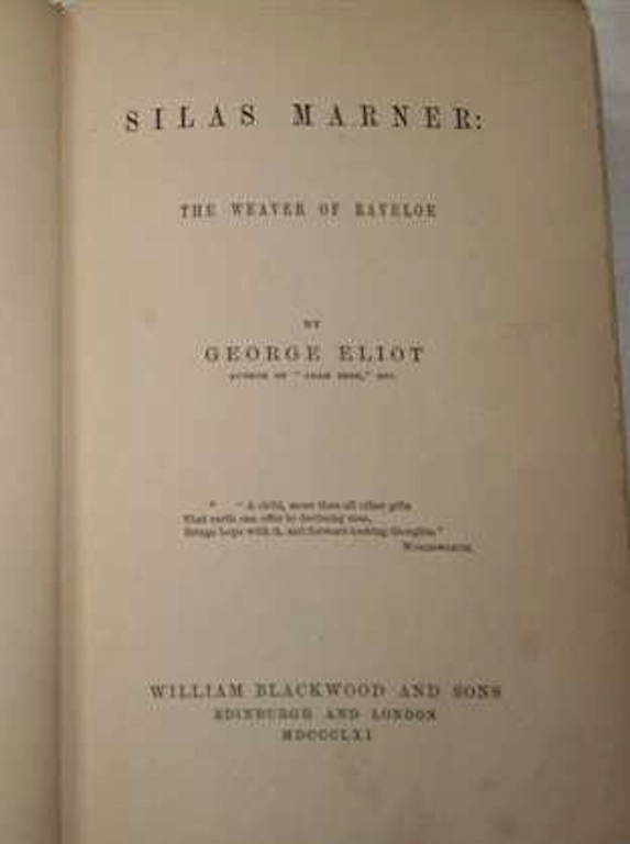 Image for Silas Marner: The Weaver of Raveloe