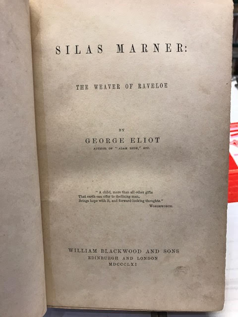 Image for Silas Marner: The Weaver of Ravenhoe