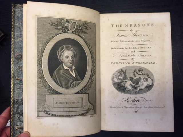Image for The Seasons, By James Thomson with His Life, an Index and Glossary, a Dedication to the Earl of Buchan, and Notes to the Seasons, By Percival Stockdale
