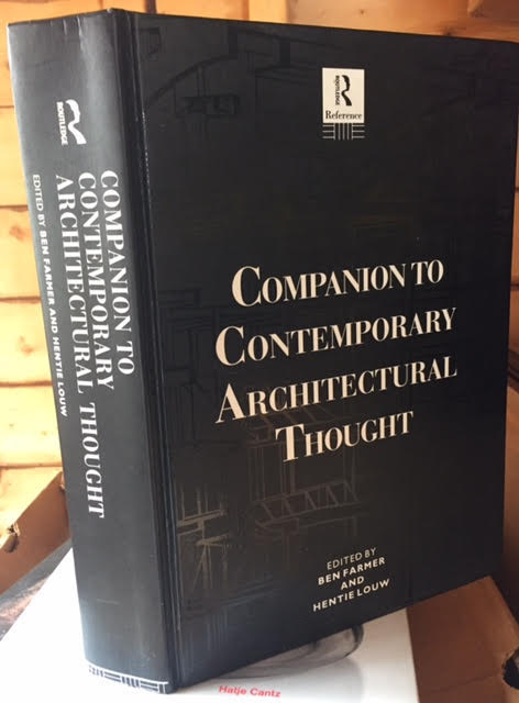Image for Companion to Contemporary Architectural Thought