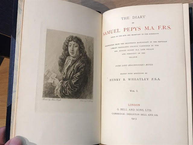 Image for The Diary of Samuel Pepys M.A. F.S.A Clerk of the Acts and Secretary to the Admiralty. Transcribed from the Shorthand Manuscript in the Pepysian Library Magdalene College Cambridge By the Rev Mynors Bright M.A. Late Fellow and President of the College.