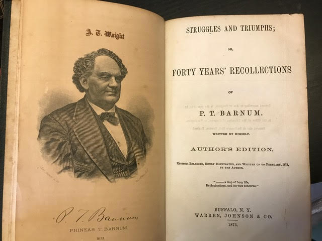 Image for Struggles and Triumphs or Forty Years Recollections of P.T. Barnum
