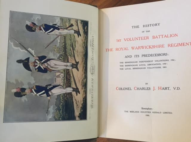 Image for The History of the 1st Volunteer Battalion the Royal Warwickshire Regiment