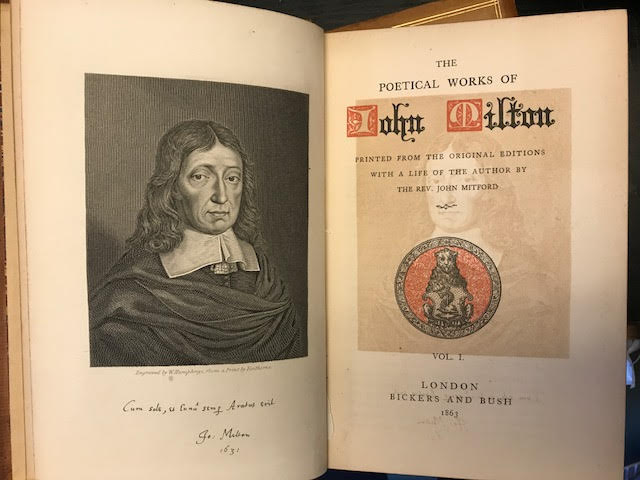 Image for The Poetical Works of John Milton Printed from the Original Editions with a Life of the Author