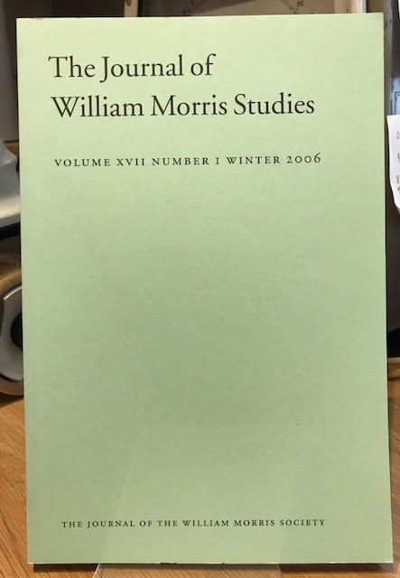 Image for The Journal of William Morris Studies. Volume XVII / 17 , Number 1, Winter 2006