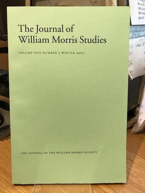 Image for The Journal of William Morris Studies. Volume XVII / 17 , Number 3, Winter 2007