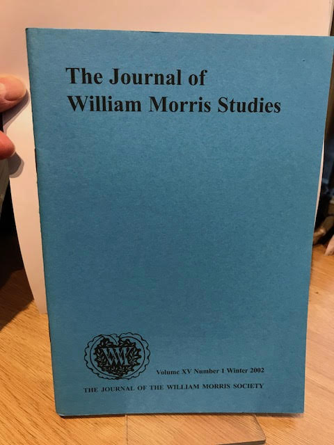 Image for The Journal of William Morris Studies. Volume XV / 15 , Number 1, Winter 2002