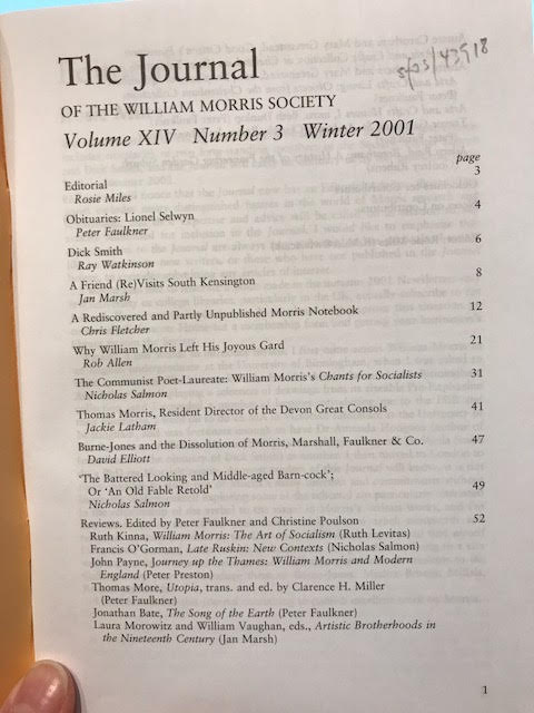 Image for The Journal of William Morris Studies. Volume XIV / 14 , Number 3, Winter 2001