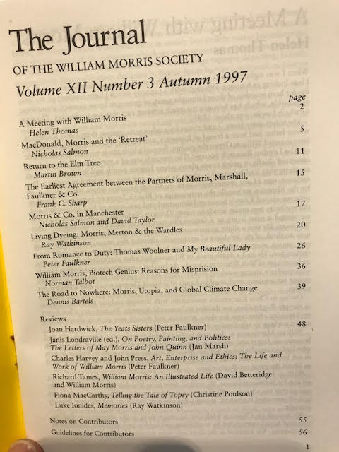 Image for The Journal of William Morris Studies. Volume XII / 12 , Number 2, Spring 1997