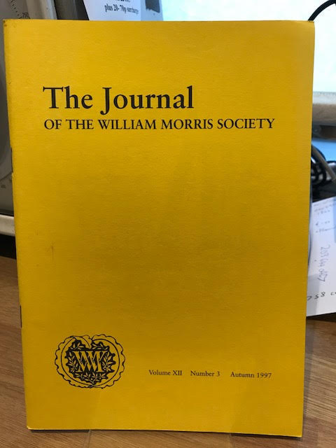 Image for The Journal of William Morris Studies. Volume XII / 12 , Number 3, Autumn 1997