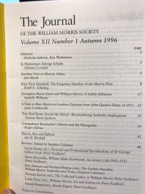 Image for The Journal of William Morris Studies. Volume XII / 12 , Number 1, Autumn 1996