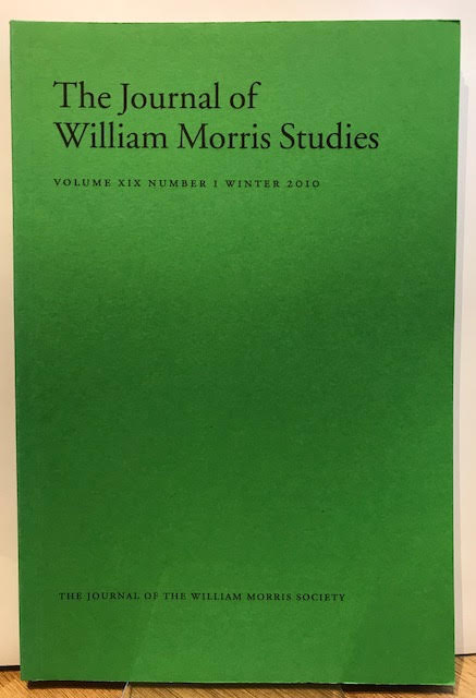 Image for The Journal of William Morris Studies. Volume XIX / 19 , Number 1, Winter 2010