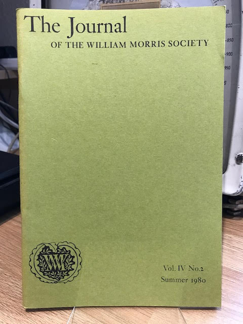 Image for The Journal of the William Morris Society. IV / 4, Number 2, Summer 1980