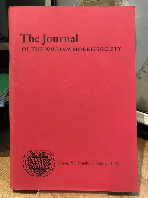 Image for The Journal of the William Morris Society.  VII / 7, Number 1,  Autumn 1986
