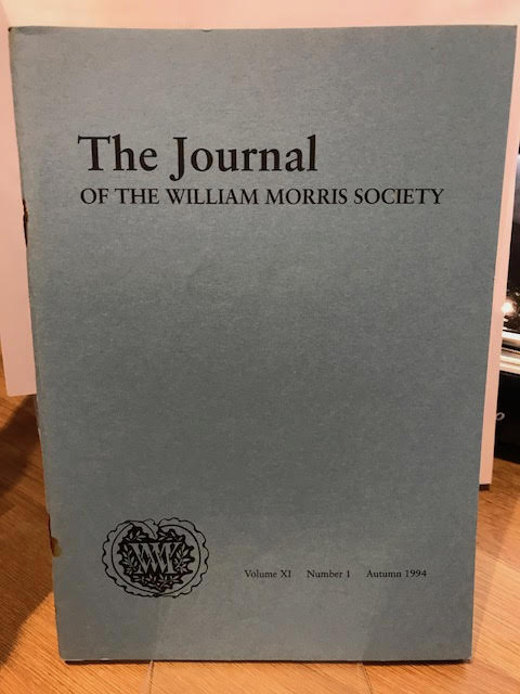 Image for The Journal of the William Morris Society.  XI / 11, Number 1, Autumn 1994