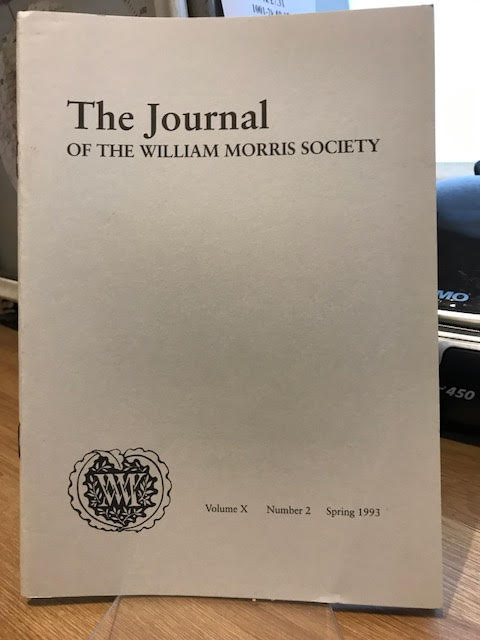 Image for The Journal of the William Morris Society.  Vol X / 10, Number 2, Spring 1993