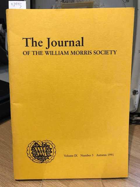 Image for The Journal of the William Morris Society. Volume IThe Journal of the William Morris Society Vol IX/9, Number 3, Autumn 1991