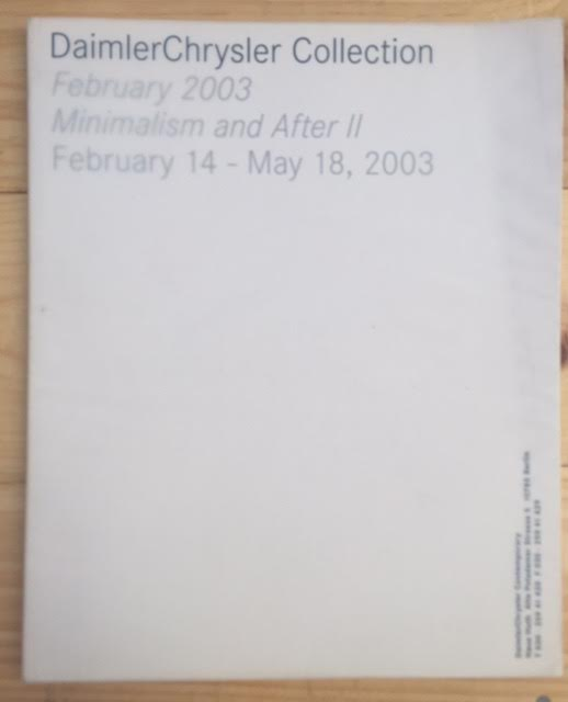 Image for DaimlerChrysler Collection: February 2003, Minimalism and After II