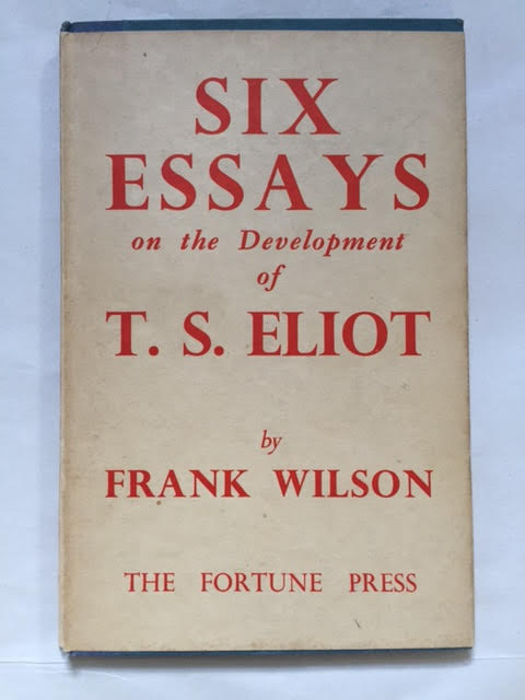 Image for Six Essays on the Development of T S Eliot
