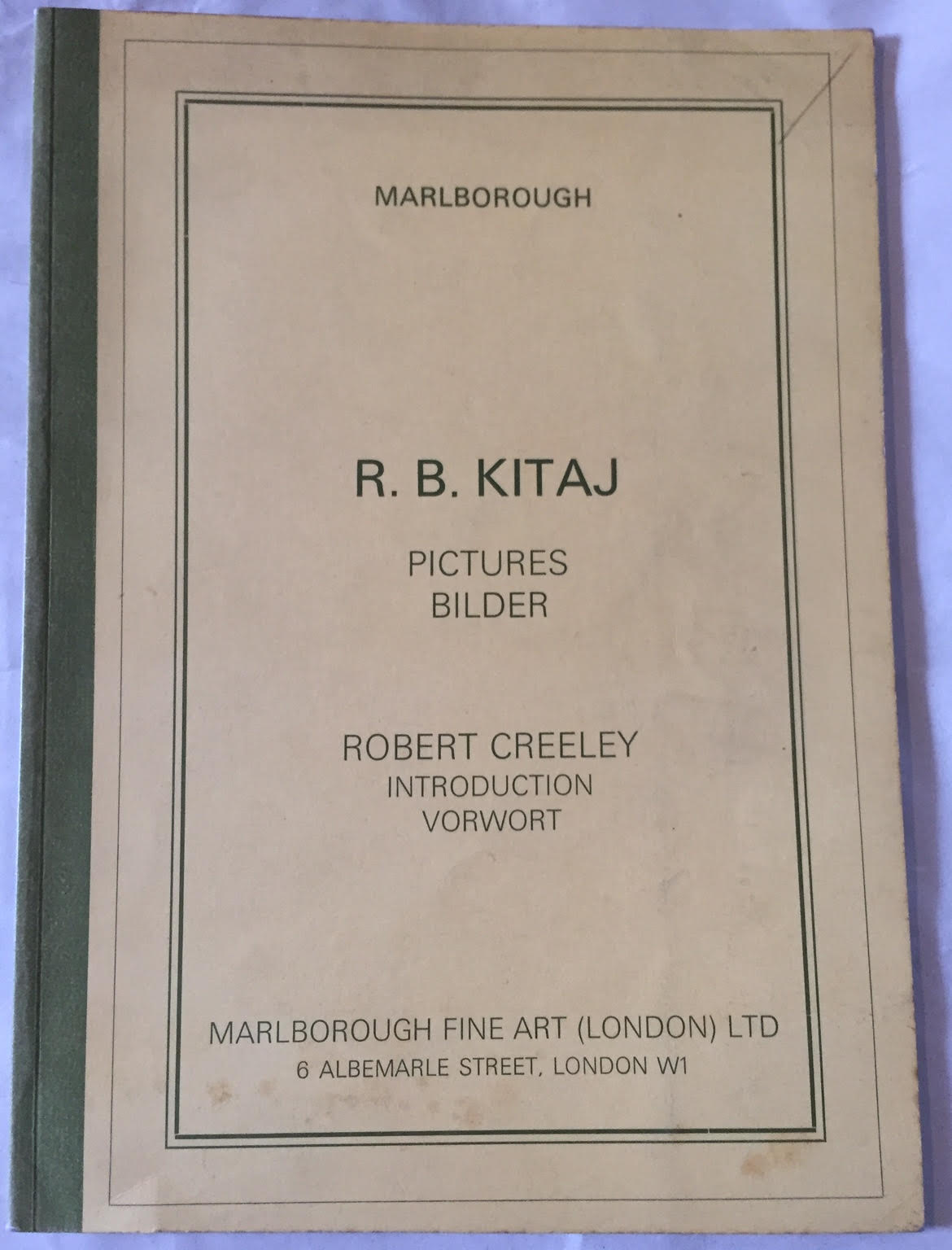 Image for RB Kitaj Pictures