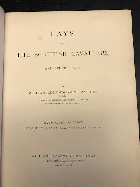 Image for Lays of the Scottish Cavaliers and Other Poems