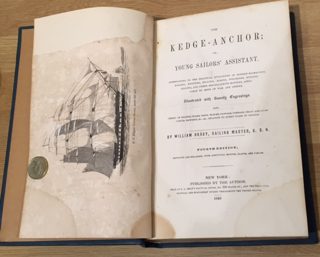 Image for The Kedge-Anchor: Or, Young Sailors' Assistant Appertaining to the Practical Evolutions of Modern Seamanship, Rigging, Knotting, Splicing, Blocks, Purchases, Running-Rigging...