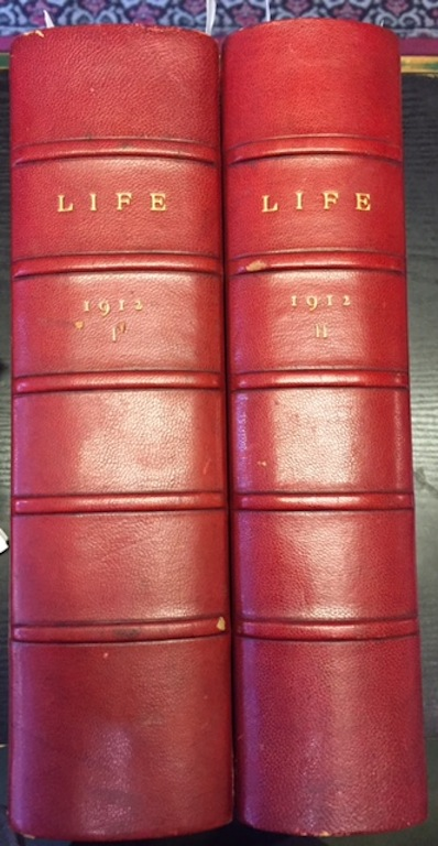 Image for Life Magazine 1910-1912.  In six bound volumes.