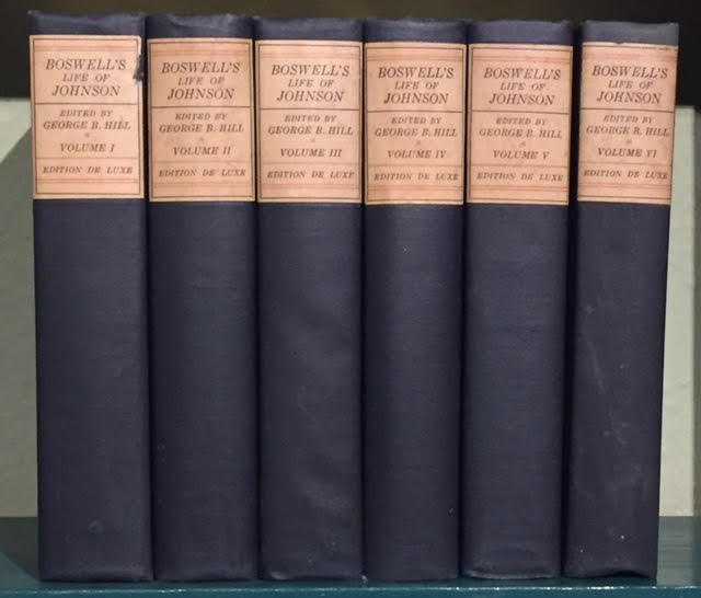 Image for Boswell's Life of Johnson. Including Boswell's Journal of a Tour to the Hebrides and Johnson's Diary of a Journey Into North Wales. In six volumes