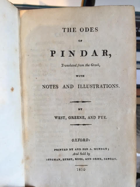Image for The Odes of Pindar. With Notes and Illustrations
