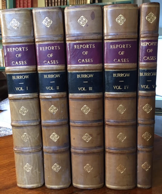 Image for Reports of Cases Adjudged in the Court of King's Bench. Since the Death of Lord Raymond; Since the Time of Lord Mansfield... Five volumes