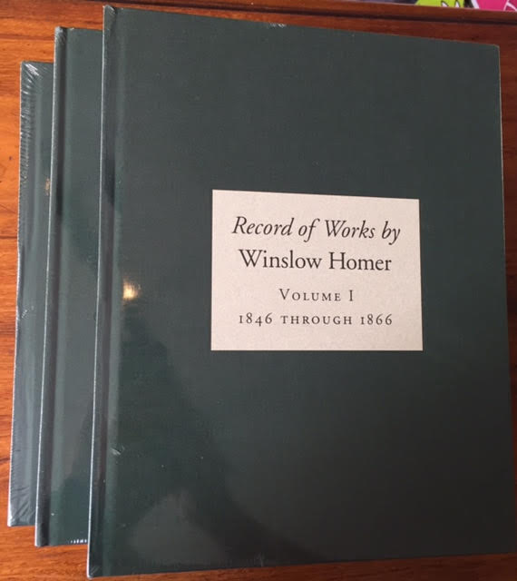 Image for Record of Works by Winslow Homer : Volume I, 1846 Through 1866; Volume II, 1867 Through 1876; Volume III 1877 to March 1881. Three volumes