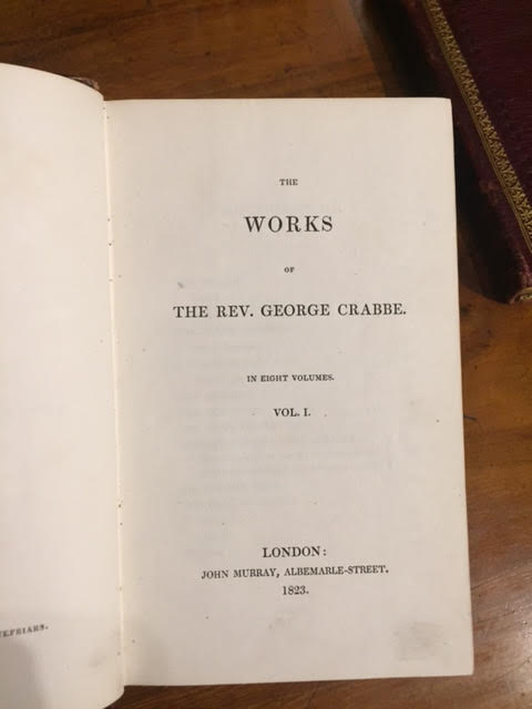 Image for The Works of the Rev. George Crabbe. In eight volumes