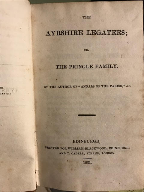 Image for The Ayrshire Legatees; Or, The Pringle Family