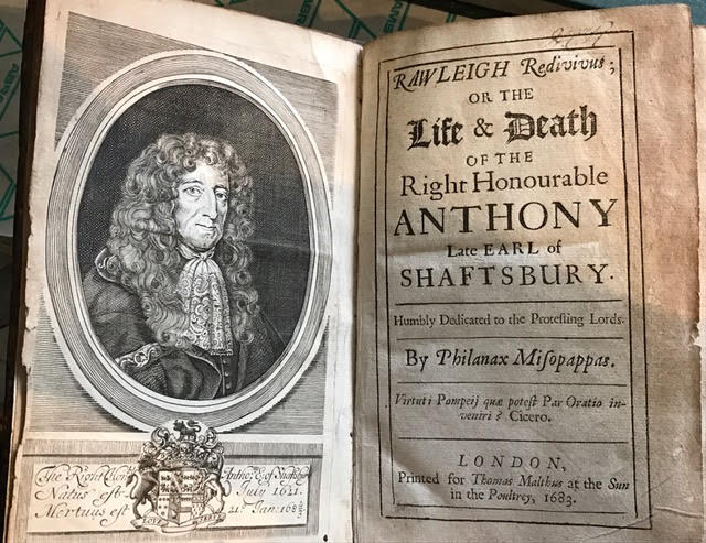 Image for Rawleigh Redivivut : Or The Life & Death of the Right Honourable Anthony Late Earl of Shaftsbury