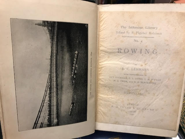 Image for Rowing : The Isthmian Library No. 4