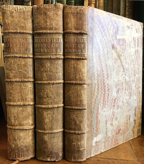Image for An Essay Towards a Topographical History of the County of Norfolk, Containing a Description of the Towns, Villages and Hamlets ... also an Account of the Antient and Present State of all the Rectories, Vicarages ... Containing the History of the City of Norwich ...Three volumes of five