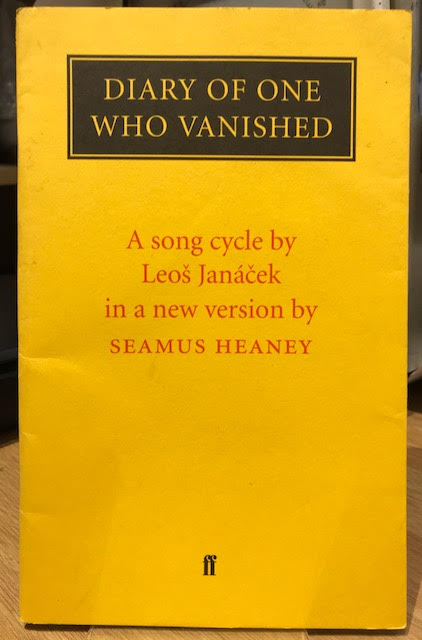 Image for Diary of One Who Vanished : A Song Cycle by Leos Janacek in a new version by Seamus Heaney