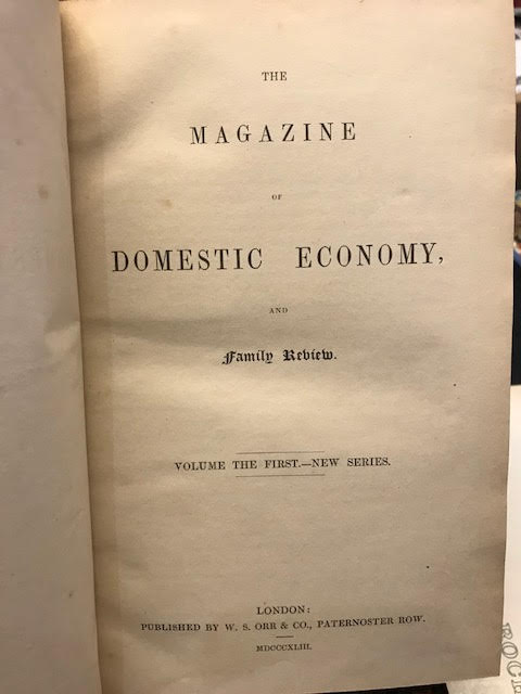 Image for The Magazine of Domestic Economy and Family Review in Two Volumes