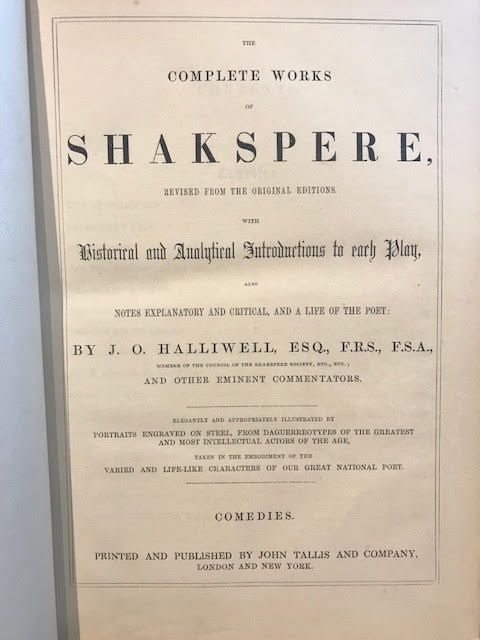 Image for The Complete Works of Shakspere [Shakespeare] : Revised from the Original Editions with Historical and Analytical Introductions to Each Play ... In three volumes