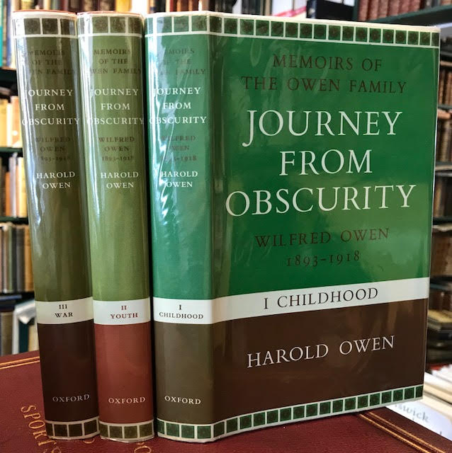 Image for Journey From Obscurity - Memoirs of The Owen Family - Wilfred Owen 1893 - 1918 i. Childhood ii. Youth iii. War