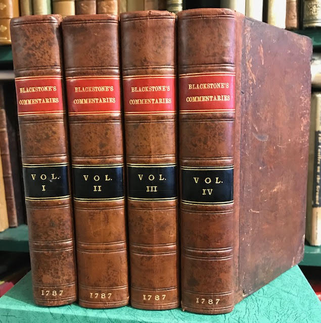 Image for Commentaries on the Laws of England : In Four Books by Sir William Blackstone, Knt. One of the Justices of His Majesty's Court of Common Pleas. In four volumes