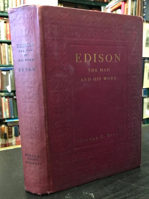 Image for Edison : The Man and His Work