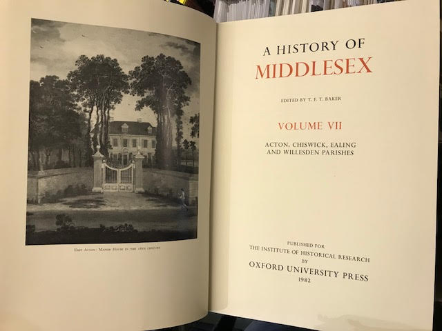 Image for The Victoria History of the County of Middlesex Vol. VII ( 7 ) : Acton, Chiswick, Ealing and Willesden Parishes