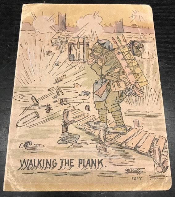 Image for Walking the Plank. Original World War One Christmas Card