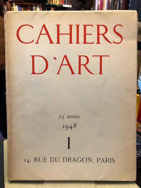 Image for Cahiers d'Art : 23e Annee 1948, No. 1 [Picasso]