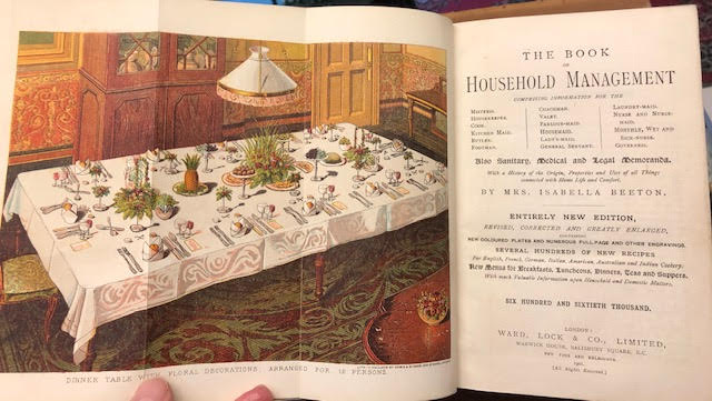 Image for The Book of Household Management :  Comprising information for the Mistress, Housekeeper, Cook, Kitchen Maid, Butler etc.......Also, sanitary, medical, and legal memoranda; With a history of the origin, properties, and uses of all things conected