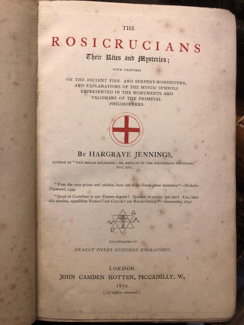 Image for The Rosicrucians : Their Rites and Mysteries