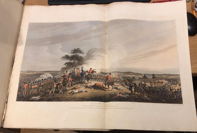 Image for The Campaign of Waterloo : Illustrated with Engravings of Les Quatres Bras, La Belle Alliance, Hougoumont, La Haye Saint ... With a Grand View of the Battle on a Large Scale ...