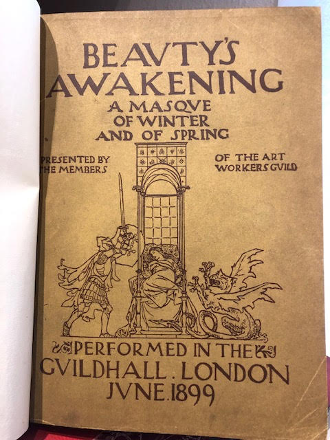 Image for Beauty's Awakening. A Masque of Winter and of Spring, written, designed & contrived by the members of the Art Workers' Guild and finally presented by them in the Guildhall of the City of London..29th June 1899  - Special Summer Number 1899 of The Studio