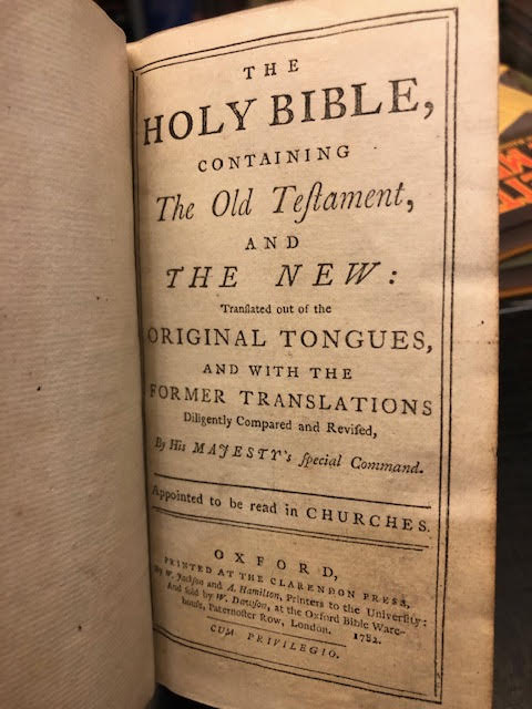 Image for The Holy Bible : Containing the Old Testament, and the New [bound with] The Psalms of David in Metre [King James Bible]